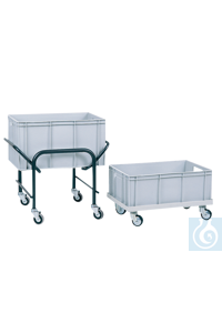 neoLab Container trolley steel tubing, for basins 60 x 40 cm Transport trolley for all Euro...
