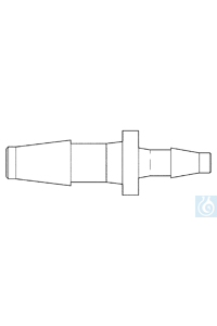 neoLab® Übergangsstück (PP) gerade, f. 4,0 / 6,4 mm, 10 Stck./Pack Reduzierstück, gerade, aus...