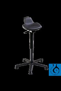neoLab® Stehhilfe mit Kreuzfuß, Sitz PU-Schaum Stehhilfe mit Sattelsitz aus schwarzem PU-Schaum,...