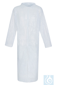 neoLab® Einmalkittel aus PE neoLab® Disposable laboratory coat from PE