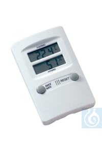 neoLab® Thermo-/Hygrometer, Max./Min.-Funktion -10°C/+60°C Elektronisches Thermometer und...