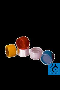 neoLab® Schraubverschlüsse für Reaktionsgef., gelb, 1.000 St./Pack Schraubverschlüsse mit...