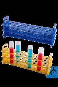 Moonlab® Reagenzglasgestell, 20 Plätze, Ø: 20 mm, autoklavierbar, 325x74x126 mm Bunte Gestelle...