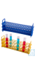 Moonlab® Reagenzglasgestell, 12 Plätze, Ø: 32 mm, autoklavierbar, 280x85x126 mm, gelb, 1 Stk...