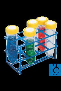 neoLab® Ständer für Zentrifugenröhrchen 50 ml, 2 x 4 Loch Drahtständer für konische 50 ml ''Blue...