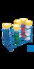 neoLab Ständer für Zentrifugenröhrchen 50 ml, 2 x 4 Loch Drahtständer für konische 50 ml