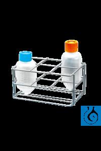 neoLab® Zentrifugenflaschen-Gestell für 6 Flaschen Zur Aufbewahrung konischer Zentrifugenflaschen...
