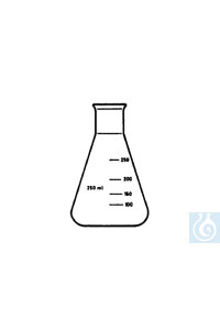 ecoLab Erlenmeyer-Kolben, Borosilikatglas, Enghals, 25 ml, 10 St./Pack Borosilikatglas 3.3 mit...