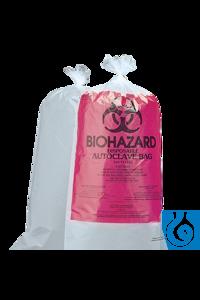neoLabLine® Biohazard-Entsorgungsbeutel 30 x 61 cm, PP, 100 St./Pack Autoklaviersäcke aus PP für...