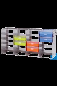 neoLabLine® Schrankgestell f. neoBox-100, 4x5 Fächer, 146 x 630 x 299 mm Für die neoBox-100 und...