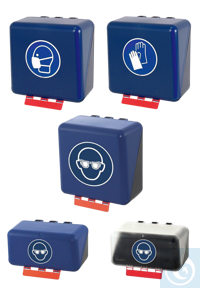 neoLab Storage box for gloves, blue, midi Safe and clean boxes for all common occupational safety...