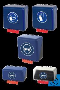 neoLab® Aufbewahrungsbox f. Handschuhe, blau, midi Sichere und saubere Aufbewahrungsbox für alle...