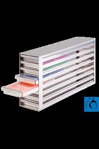 neoLab® Schrankeinschub f. PCR-Boxen, 4x10 Fächer, 141 x 568 x 371 mm Für die PCR-Box von neoLab...