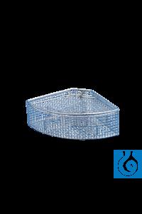 neoLab® Reinigungskorb, Edelstahl, Tortenstück, 318x196x122 mm Die...