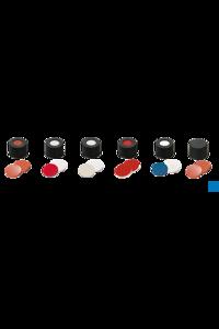 neochrom® 10mm Verschluss: PP Schraubkappe, schwarz, mit Loch, Silicon weiß/PTFE...
