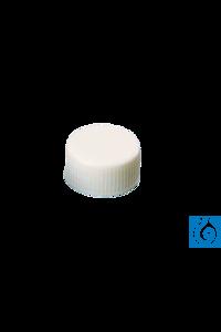 neochrom® UltraBond Schraubkappen ND24 geschl., Silikon natur/PTFE beige, 100 St Kappe und Septum...