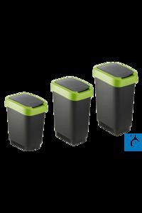 neoLab® Abfalleimer mit Ausschwingdeckel, grün, 10 Liter Abfalleimer aus...