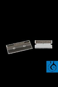 neoLab® Klingen mit Griffleiste, 40 mm breit, 5 Stck./Pack Rasiermesserscharfe Klingen mit...
