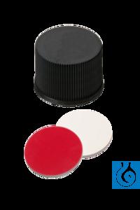 neochrom® Schraubkappe ND15 geschl., PP, Silikon weiß/PTFE rot, 100 Stck./Pack Geschlossene...