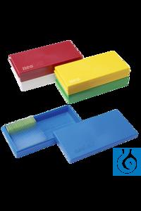 neoLabLine® Objektträger-Kasten für 50 St., PS, grün neoLab® Microscope slide box for 50 slides,...