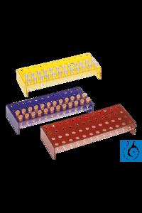neoLab® Acryl-Gestelle 4 x12 Loch, blau für Eppendorf-Reaktionsgefäße Blaue Gestelle für 48...