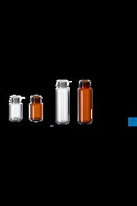 neochrom® Feingewindeflaschen ND18, Braunglas, 20 ml, 100 Stck./Pack Feingewindeflaschen aus Glas...