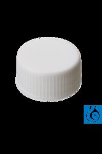 neochrom® Schraubverschlüsse, PP weiß geschlossen, Gewinde 24-400, 100 St./Pack Schraubkappen ND...