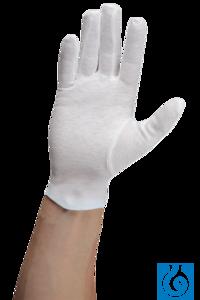 neoLab® Baumwoll-Handschuhe, weiß, Gr. 8 Nicht jede Haut verträgt Gummi- oder...