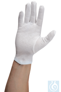 neoLab® Baumwoll-Handschuhe, weiß, Gr. 8