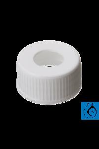 neochrom® Schraubverschlüsse, PP weiß, 12,5 mm Loch, Gewinde 24-400, 100 St./Pac Schraubkappen ND...