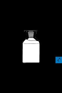 ecoLab Steilbrustflaschen, klarglas, Weith. 50 ml NS 24 Glasstopfen mit NS-Glasstopfen