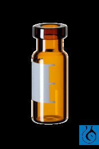 neochrom® Rollrandfläschchen Braunglas ND11, 2 ml, 12 x 32 mm, weite Öffnung, mi