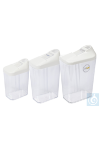 neoLab® Dosierdose mit Schiebeverschluss, 600 ml Dosierdosen für flüssige, pulver- und...