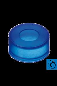 neochrom® PE Push-On Kappe ND11 mit Loch, Naturkautschuk rot-or.TEF transp Für Fläschchen ND11...