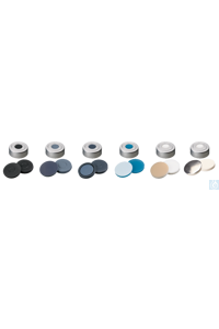 neochrom® Headspace-Kappe ND 20 farblos, Über- drucksicherung, Silikon weiß/PTFE