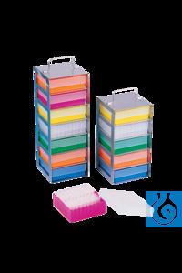 neoLabLine® Truhengestell f. neoBox-81, 5 Fächer, 138 x 138 x 281 mm Für alle Boxen mit den...
