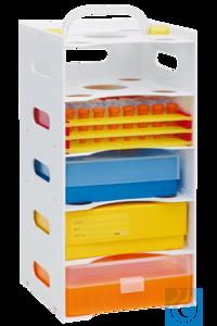 neoStapelRack zum Aufeinanderstecken, weiß Einzelelement für neoStapelRack ® Passend für die...