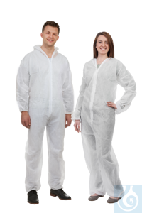 neoLab Overall, white, made of PP, size L Disposable protection overall of category III made from...