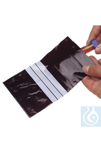 neoLab® Kunststoffbeutel aus LDPE, schwarz, 70 x 100 mm, 100 Stck./Pack Schwarze LDPE-Beutel für...