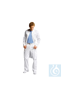 neoLab® Labormantel Herren, 100 % BW, weiß, 1/1 Länge, Gr. 56 neoLab® Laboratory coat for men,...