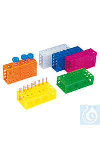 neoLabLine® Combi-Röhrchengestell, transparent Alle 4 Seiten des Gestells sind für verschiedene...