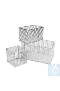 neoLab® Aluminum basket small, 152 x 152 x 152 mm