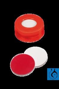 neochrom® Schnappringkappen ND11, PE blau mit Loch, Silikon weiß/PTFE rot, 100 S Blaue...