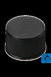 neochrom® Schraubkappe aus PP schwarz, ND13 geschlossen, 100 St./Pack Schraubkappen ND 13 aus PP,...