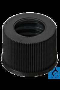 neochrom® Schraubkappe PP schwarz, ND10 m. Loch 7 mm, 100 Stck./Pack Schraubkappen ND 10 aus PP,...