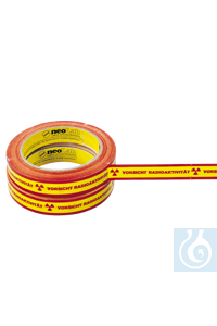 neoLab Adhesive tape & Adhesive tape, yellow, with red inscription