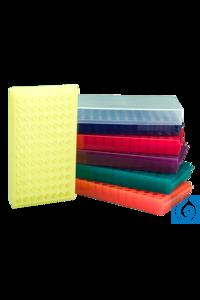 neoLabLine® Combi-Rack für Reaktionsgefäße, 96 Plätze, gelb Beidseitig verwendbares Rack für...