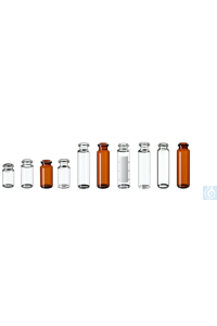 neochrom® ND20 Headspace vials, 20 ml brown glass, 75.5 x 22.5 mm, DIN rolled...