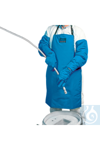 neoLab Cryo working apron, wearable on both sides, 92 cm long The protective shield against...