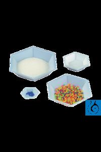 neoLab® Einmal-Wägeschalen 6-eckig, 160 ml, 500 Stck./Pack Sechseckige PS-Schalen mit stabilem...